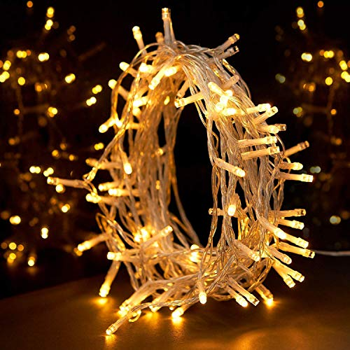 String Lights, Sunnest Fairy Lights Warm White 100 LED 10M Decoration Tree Lights for Christmas Wedding Birthday Holiday Party Indoor& Outdoor