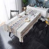 Boho Style Tischdecke 140x200 Abwaschbar Aztekenmuster Tischtuch Draußen Gartentisch Afrikanisches Tafeltuch Staubdicht Küchentisch Eechteckig Abdeckung für Esstisch