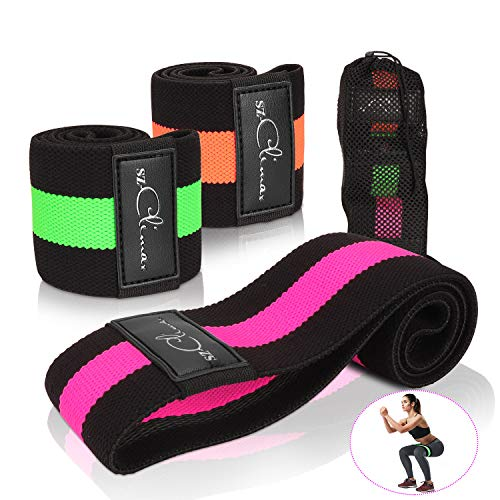 Resistance Hip Bands, Fitnessbänder Set Yogagurt in 3 Zugkraftstärken, Booty Builder, Resistenzband, Trainingsband Yogaband Widerstand und Unterstützung fürs Beintraining, Krafttraining und Klimmzüge