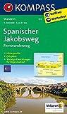 KOMPASS Wanderkarte Spanischer Jakobsweg: Fernwanderweg. GPS-genau. 1:100000: Wandelkaart 1:50 000 (KOMPASS-Wanderkarten, Band 133)