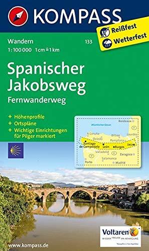 KOMPASS Wanderkarte Spanischer Jakobsweg: Fernwanderweg. GPS-genau. 1:100000 (KOMPASS-Wanderkarten, Band 133)