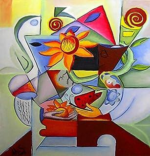 """Pintura Original Lienzo al Óleo Arte Abstracto Moderno """"METAMORFOSIS FLORAL"""" por DOBOS, Cuadro para Decoración del Hogar, ..."""