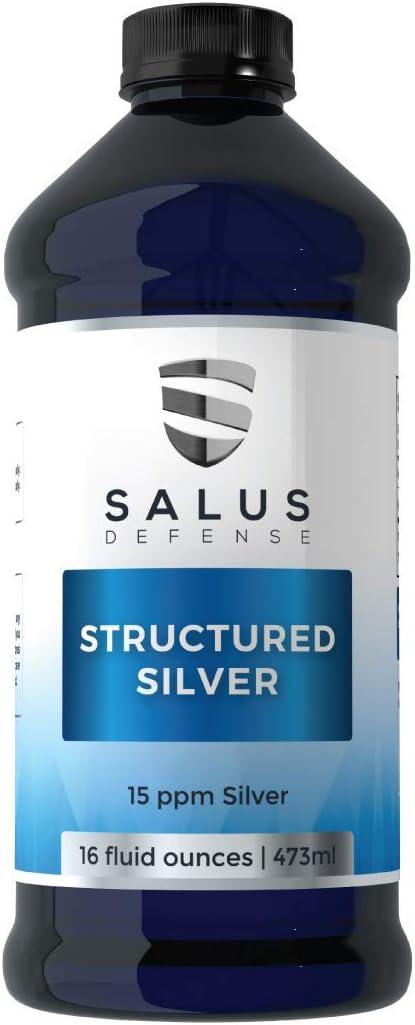 Salus Defense Structured Silver Liquid 高品質 Support Immune 海外 Daily — Su