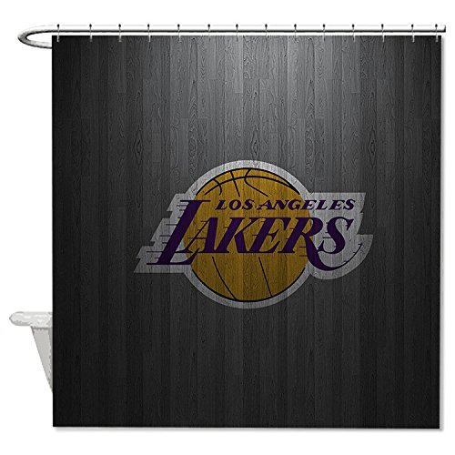 """Yilooom Lakers Polyester Waterproof Shower Curtain 72"""" X 72"""""""