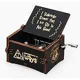 WZZDCaja De Música De Madera con Manivela Caja De Música Caja De Música De Madera Retro Harry Potter Negro 6.4 * 5.2 * 4.2cm