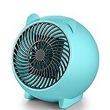 Radiateur Soufflant Céramique,250W Chauffage & Ventilateur Instant Comfort à Oscillation avec Thermostat,Protection Contre la Surchauffe et Chute,Vent Puissant Pour Poussette,Camping,Bureau,Voiture