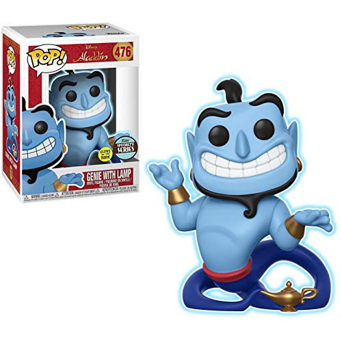 Genie with Lamp [Glow-in-Dark] (Specialty Series): Fun ko Pop! Vinyl Figure & 1 Compatible Graphic Protector Bundle (476 - 35759 - B)