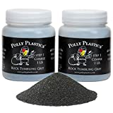 Polly Plastics Rock Tumbler Media Grit Refill, 2 lb Coarse 60/90 Silicon Carbide Grit, Stage 1 for Tumbling Stones (2 Pack)