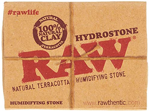 RAW 18324 Hydrostone-Tabak Befeuchter-Natural Terracotta Humidifying Stone-3.6 cm Durchmesser-20er Display, Steingut