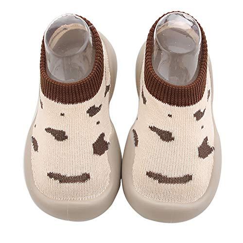 Gavena Buty do nauki chodzenia, buty do raczkowania, dla małych dzieci, dla dziewcząt, chłopców, buty dziecięce, miękkie, antypoślizgowe, gumowe podeszwy, 0-6 miesięcy, 6-12 miesięcy, 12-18 miesięcy, 18-24 miesięcy, 2-2,5Y, - Brauner Fleck - 18-24 Mi