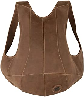 RJW Leather Backpack Crazy Horse Leather Backpack Retro Personality Street Shoulder/Crossbody Bag/Leather Backpack Fashion (Color : Brown)