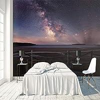 3D大型壁画 美しい星空 壁紙壁画 DIY不織布壁紙壁画HD印刷アートカスタマイズ可能なサイズのリビングルーム 寝室 の家の装飾 120X100cm (47X39inch)