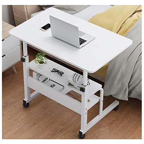 LYLSXY Tabla portátil de la computadora Que se Levanta el Almacenamiento portátil extraíble para la Sala de Estar, Dormitorio (Color : White, Size : 80 * 40cm)