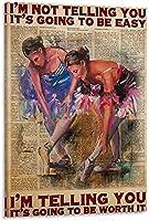 バレエポスターキャンバスアートポスターとウォールアートモダンホームベッドルームデコレーションポスター16x24インチ(40x60 cm)フレームレス-16x24インチ(40x60cm)_Frame-style1