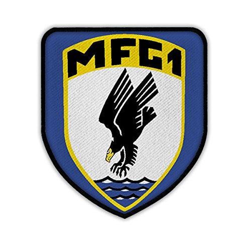 Copytec Patch/Aufnäher - Marinefliegergeschwader 1 MFG1 Wappen Abzeichen Bundeswehr Marineflieger Adler Einheit Staffel Geschwader Uniform #17495