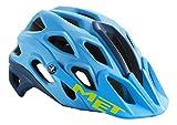 MET Adultos Casco para Bicicleta de montaña Lupo, Primavera/Verano, Unisex, Color Cyan/Petrol Blue, tamaño 54-58 cm