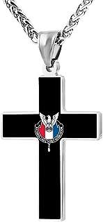 National Eagle Scout Association Fashion Custom Cross Necklace Cross Prayer Christ Necklace Pendant 24 Inch Crucifix Pray Ornaments Unisex