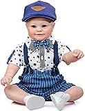 GLXLSBZ Muñeca Reborn muñecas realistas 60Cm Muñeca Realista Cuerpo Suave Silicona Vinilo Niño Bebés Niño Muñeca Renacimiento 60Cm