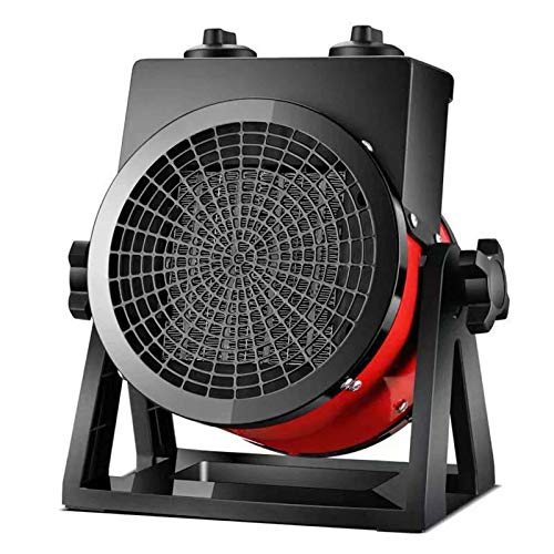 Portátil Estufa De Terraza Electrico, 2KW Calentador De Patio Turbina Protección Contra Sobrecalentamiento Alto Voltaje Calefactor...