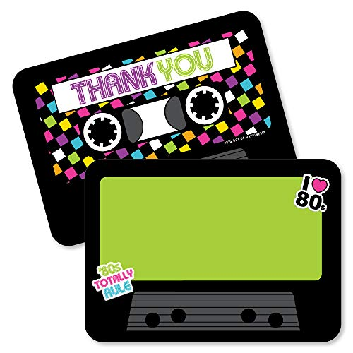 80s Thank You Cards (Pack of 12)