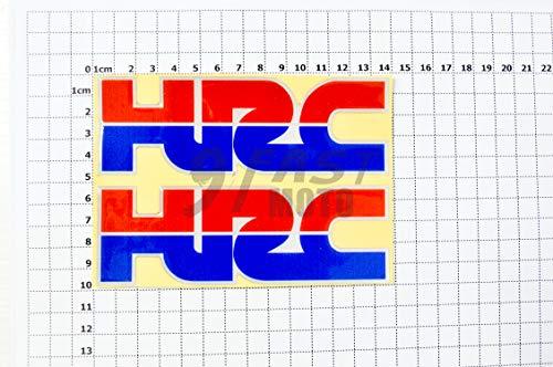 9FastMoto Motorcycle Decals Sticker for HONDA Honda HRC Motorbike Racing Decals Vinyl LOGO Decal (HRC)