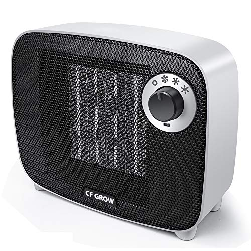Mini TPC Ceramic Space Heater 1500 Watt, Indoor Portable Electric Small Space Heater and Quiet Fan for Home Room Office Use, Auto Shut Off With Over-Heat & Tilt Protection, UL Listed Electric heaters Space