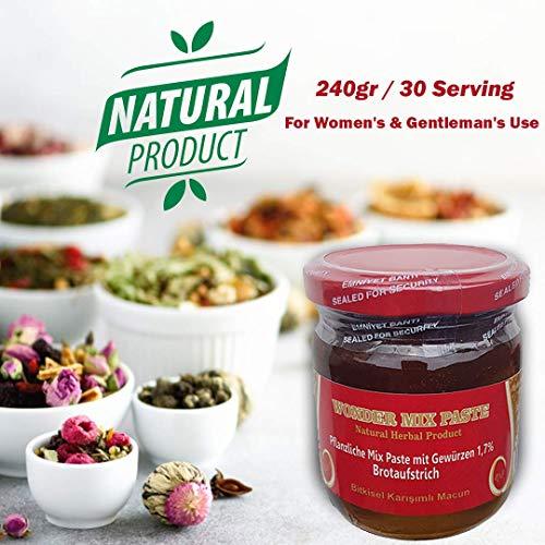 240gr Pflanzliche Natural Mix Kraft Paste Bitkisel Karisimli Kuvvet Macun Aphrodisiac Wonder Herbal Mix das BESTE besser als Themra - Haltbarkeit bis 2022 - HALAL PRODUCT