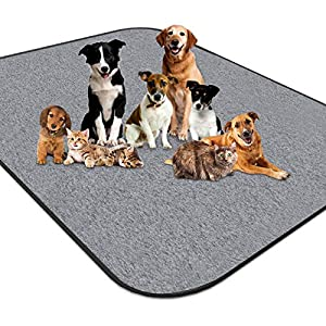 newoer Upgrade Heavy Absorbency Non-Slip Washable Dog Pee Pads Reusable 72″x72″ Anti-Tear Dog Training Pads Puppy Whelping Pad for Training,Whelping,Housebreaking, Incontinence and Playpen Crate