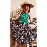 コスプレ 洋服 ロングスカート 小物 子供用 可愛い ガール レディース「CRYSTAL DOLL」 … (グリンー, 身長130cm)