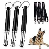 3 x fischietto per cani + 3 x corda, per cani da addestramento fischietto ad ultrasuoni ad alta frequenza efficace addestramento per cuccioli accessori per animali domestici
