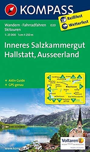 KOMPASS Wanderkarte Inneres Salzkammergut - Hallstatt - Ausseerland: Wanderkarte mit Aktiv Guide, Radwegen und alpinen Skirouten. GPS-genau. 1:25000 (KOMPASS-Wanderkarten, Band 20)