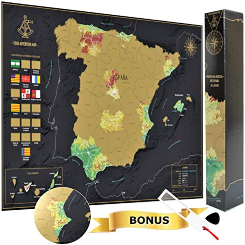 Your Adventure Mapa España Para Rascar