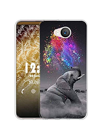 Sunrive Kompatibel mit Elephone P9000 Lite Hülle Silikon, Transparent Handyhülle Schutzhülle Etui Hülle (Q Elefant 2)+Gratis Universal Eingabestift MEHRWEG