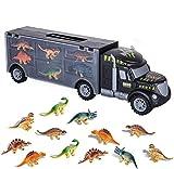bhdlovely Dinosaurios Juguetes Camin de Dinosaurio Transporte Camin Juguetes con 12 Mini Animales de Dinosaurios de Plstico Juguetes para Nios Nias 3 - 12 Aos