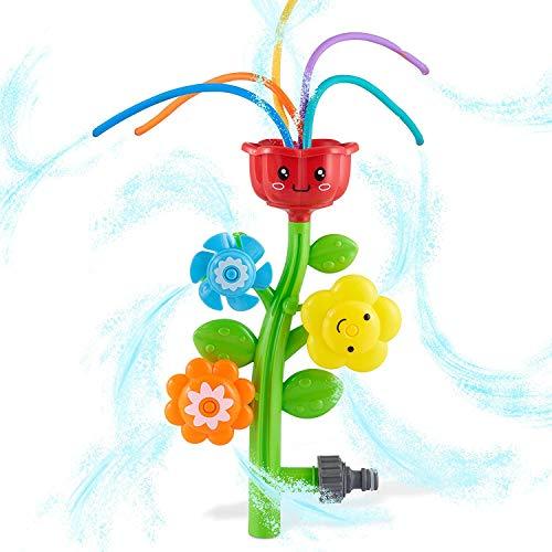 OBEST Juguete de Rociador Aspersores en Forma de Flor, aspersores al Aire Libre, Juguetes de baño, aspersores de Agua de Verano al Aire Libre para niños y niñas, más de 3 años +