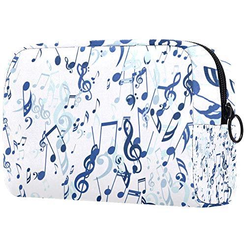 Personalisierbare Make-up-Pinsel-Tasche, tragbare Kulturtasche für Frauen, Handtasche, Kosmetik, Reise-Organizer, Noten, Bass und Violinschlüssel