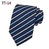 Neue gestreifte dunkle Krawattenkleid-Geschäfts-beiläufige Krawatte TT-14 146 * 8 * 3.5cm