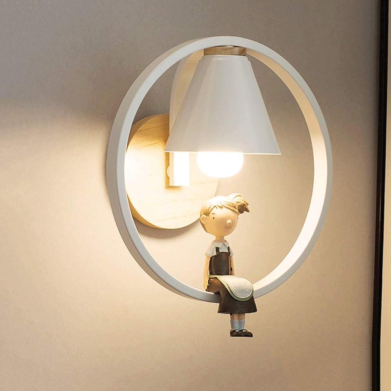 Mopoq Nordic Minimalist Wohnzimmer Schlafzimmer Wandleuchte Persnlichkeit Kreative Studie Kinderzimmer Wandleuchte Gang Treppen TV Hintergrund Wand E27 Wandleuchte