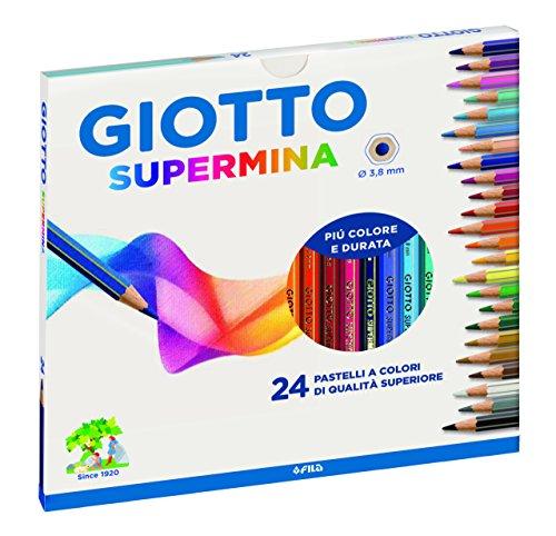 Lápis de Cor Sextavado, Giotto, Supermina, 24 Cores
