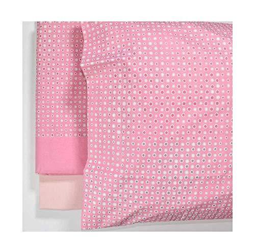 Silhouette - Juego de sábanas para cama individual, color rosa