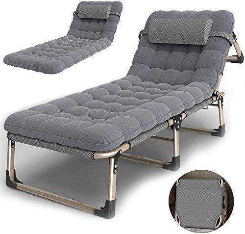 ZXCVB Folding Büro Lounger Chair, Reclining Sun Lounger Chair Einstellbare Zero Gravity Lehnstuhl Siesta Tragbare Recliners Stühle Bett Außen for Schlafzimmer Wohnzimmer Terrasse (Color : B)