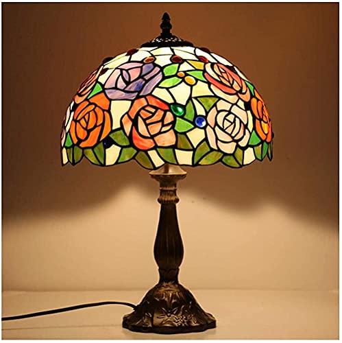 DIMPLEYA Lámparas de Mesa de Mesa Tiffany Banker Lámpara Hermosa luz de la Noche de la luz de la Vida para la Sala de Estar Dormitorio Cafe Hotel