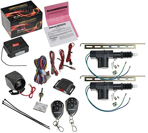 CrimeStopper SP-101 Car Security Alarm & Keyless Entry System with (2)...