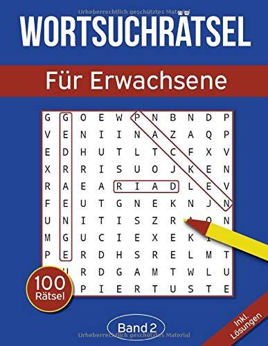 Wortsuchrätsel für Erwachsene: Wortsuchspiel Heft mit 2000 versteckten Wörtern in 100 Buchstabenrätseln - Band 2