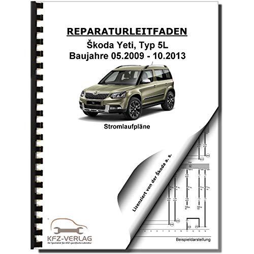 Skoda Yeti Typ 5L 2009-2013 Schaltplan Stromlaufplan Verkabelung Elektrik Pläne