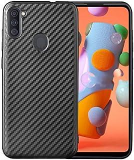 Samsung Galaxy A11 / M11 Case Cover Carbon Fiber Design TPU Black Soft Slim Flexible Shock Absorbent Protective Case Cover...