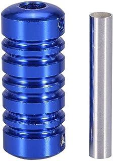 Tattoo Gun Peça de Máquina Dica Handle Tubo aperto arte corporal Acessório com haste / 1777 (Color : Blue)