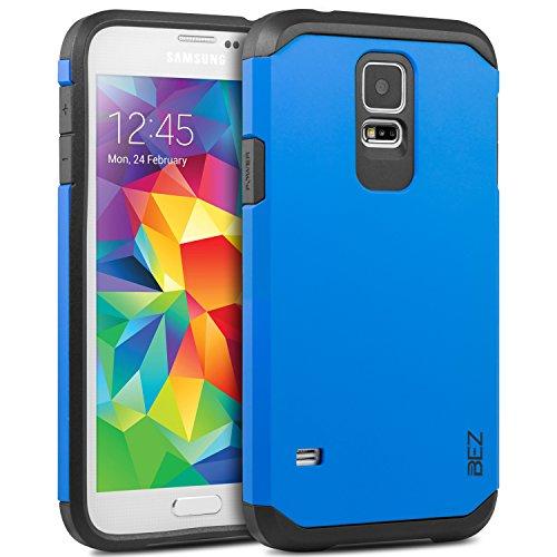 BEZ® Cover SamsungS5, Custodia Compatibile per Samsung Galaxy S5, Cover Posteriore Rigida Protettiva Custodia [Antiurto, Assorbimento-Urto] - Blu Navy