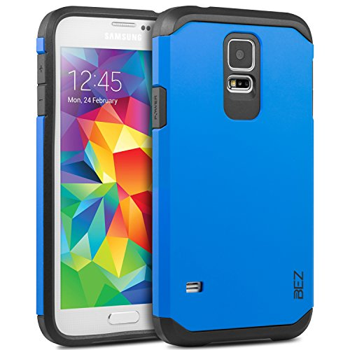 Samsung Galaxy S5 / S5 NEO Hülle, BEZ® Handyhülle Stoßfestes Etui für Samsung S5 / S5 NEO, [Heavy Duty Serie] Outdoor Dual Layer Armor Case Handy Schutzhülle [Shockproof] robuste Hülle - Blaue Marine