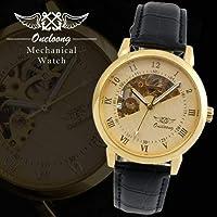 QTMIAO美しい機械式時計 WINNER1082メンズ中空マニュアルメカニカルウォッチトゥールビヨン機械式時計 (Color : 4)